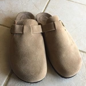 Drexlite suede mules